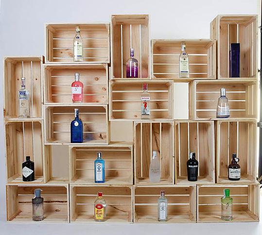 Ideas con cajas de madera de fruta for Muebles con cajones de madera