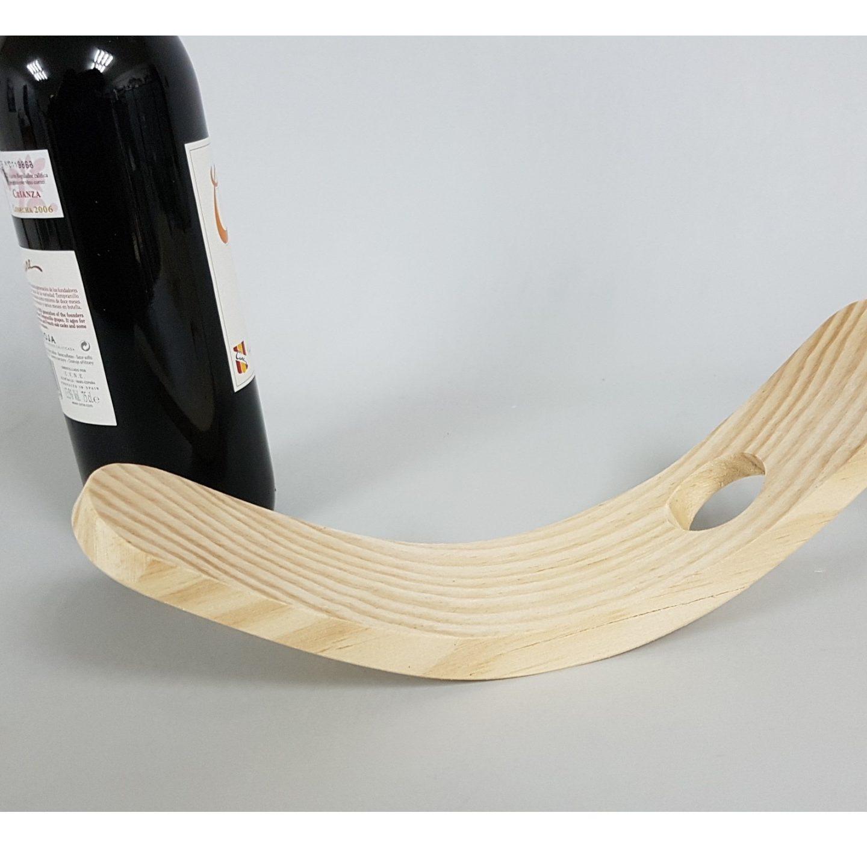 Soporte curvo de madera para vino