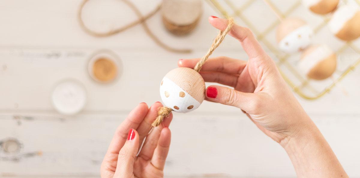 DIY bolas de navidad de madera