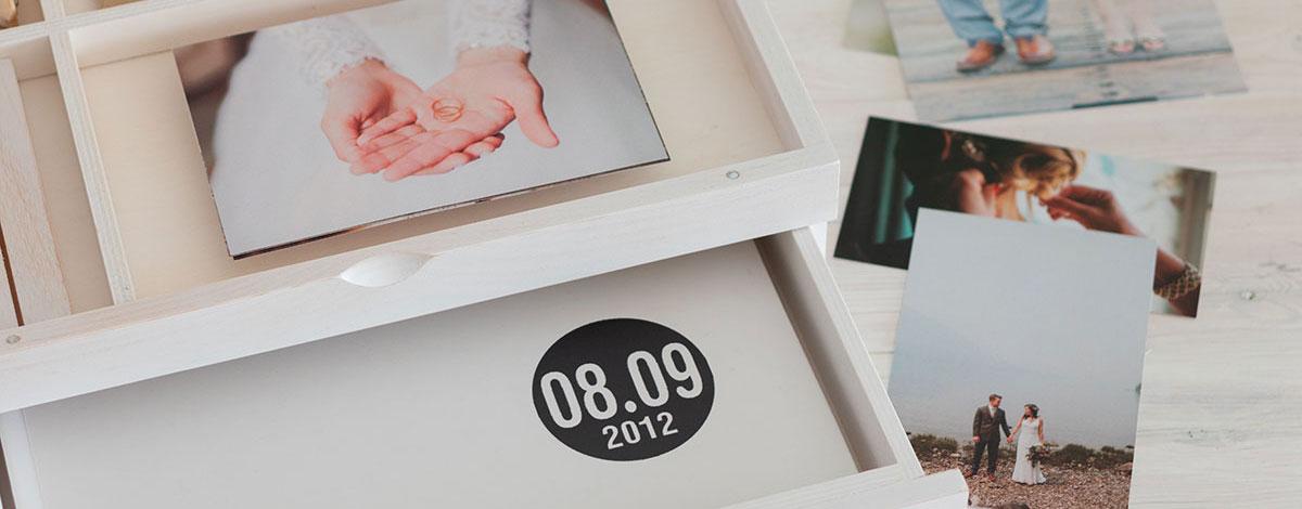 Caja para fotografías y álbumes