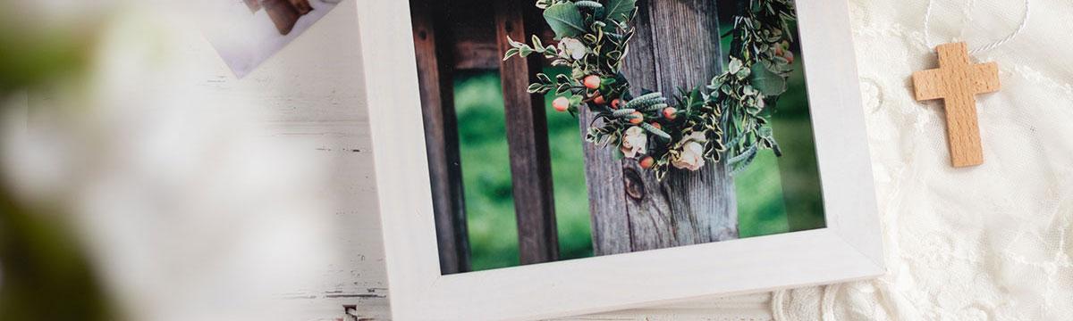 Una caja marco para tus álbumes de fotos