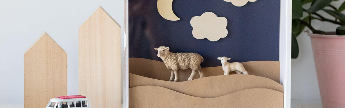 Decorando la habitación de los niños con dioramas