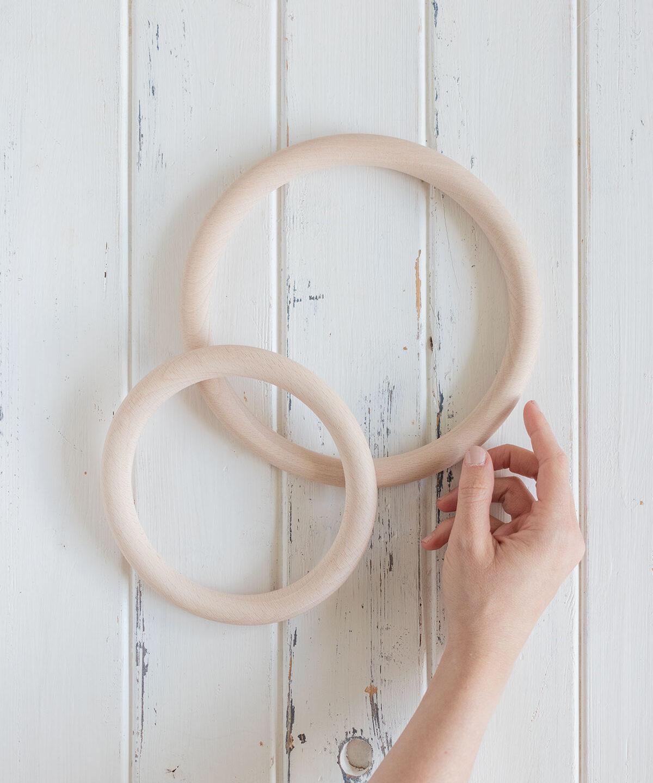 Inspiración deco con aros de madera
