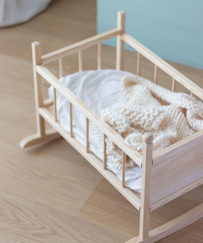 NUEVO Cuna de madera para muñecos
