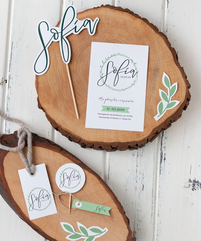 Decora tu evento con rodajas de madera