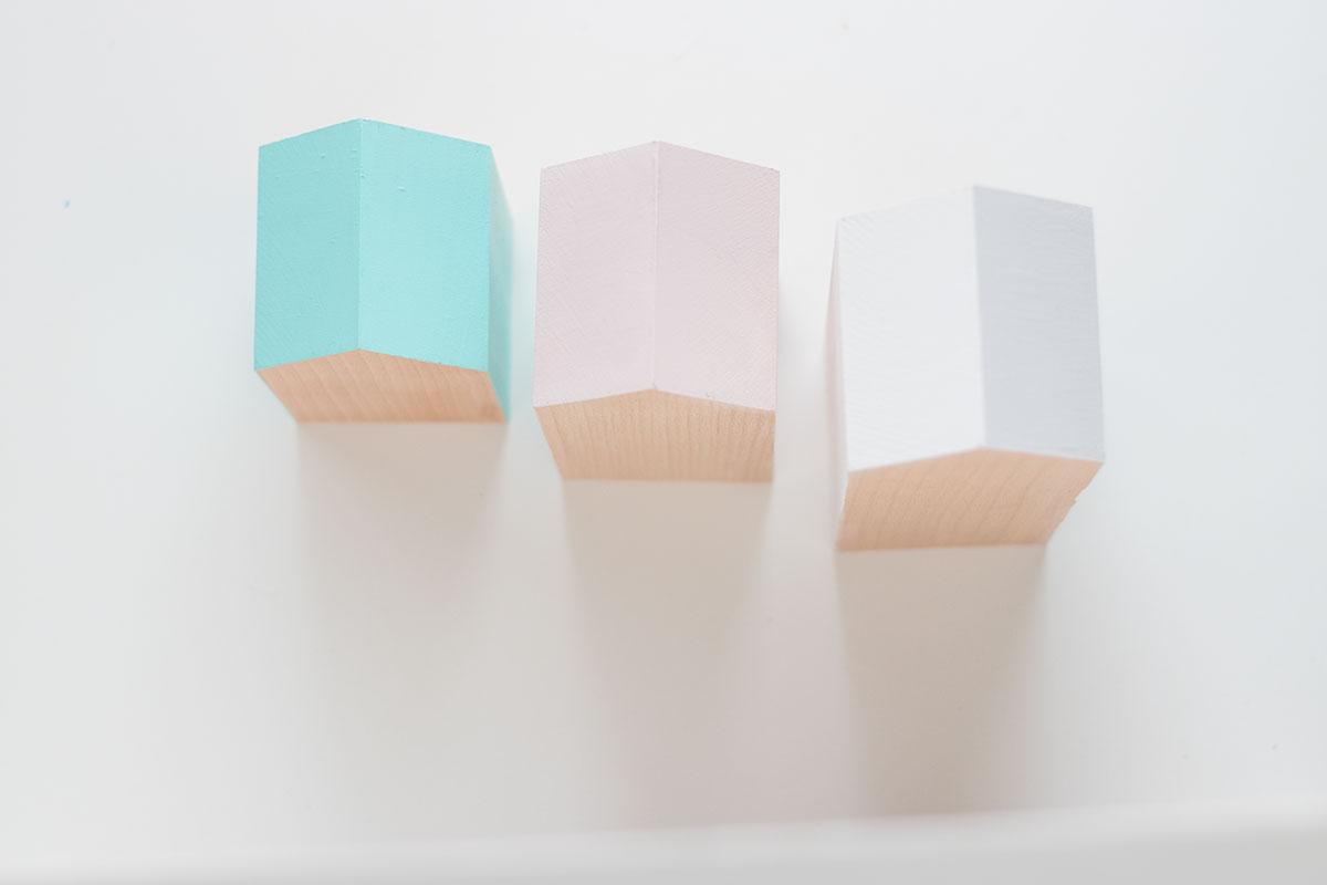 DIY casitas de madera colores pastel