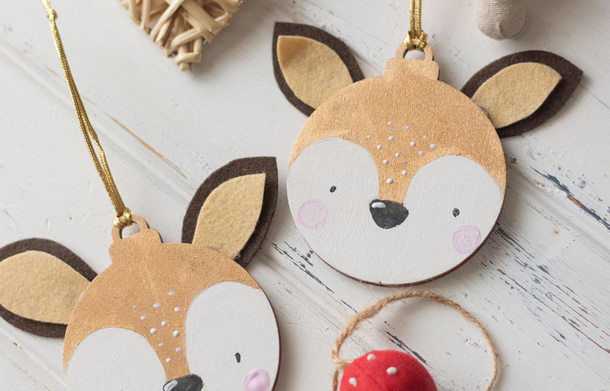 DIY bolas de Navidad ciervo