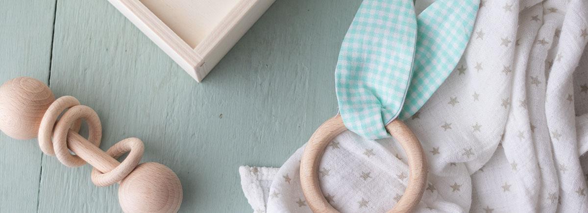 DIY mordedor con orejitas de tela