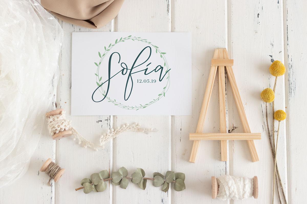 Inspiración centro de mesa con rodajas de madera