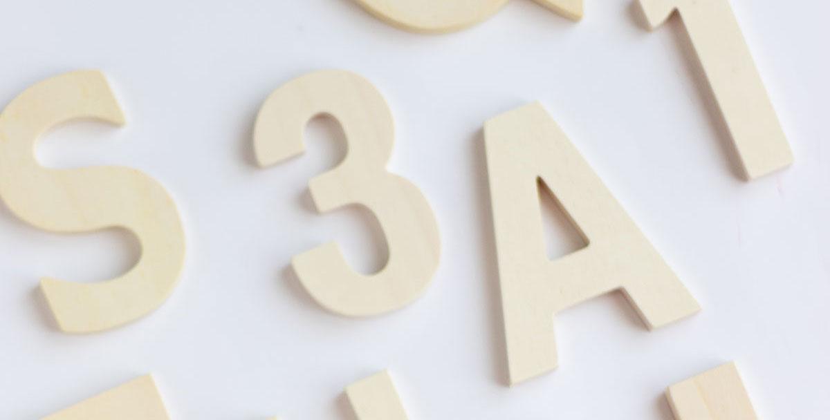Novedad números de madera para manualidades