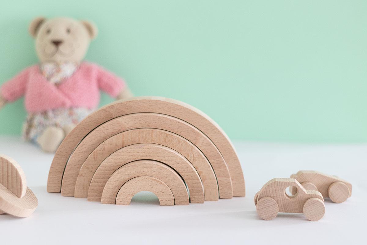NUEVO Arco iris de madera para niños