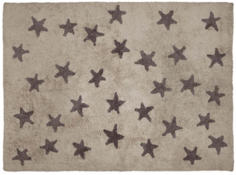 Dark Gray Star Linen Rug Ref.LCCLSG