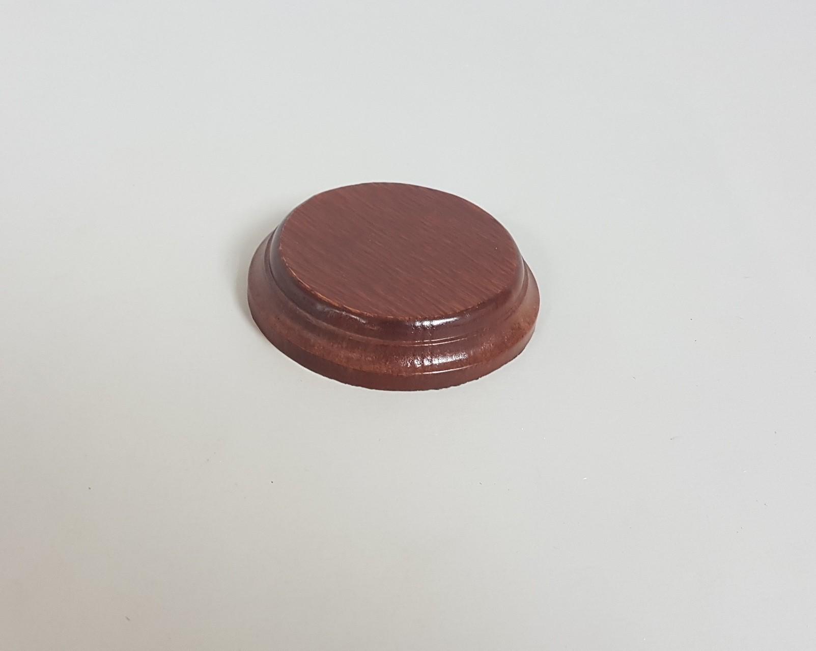 Round base Ø9 cm. mahogany Ref. 2640