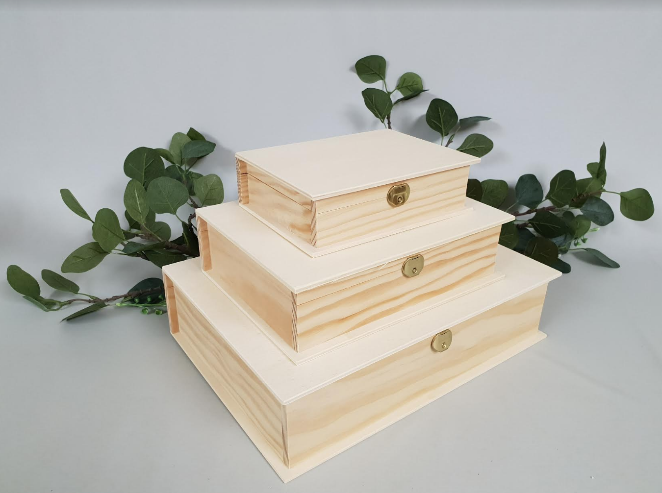 Wooden book box 3 measures Ref.P1320A