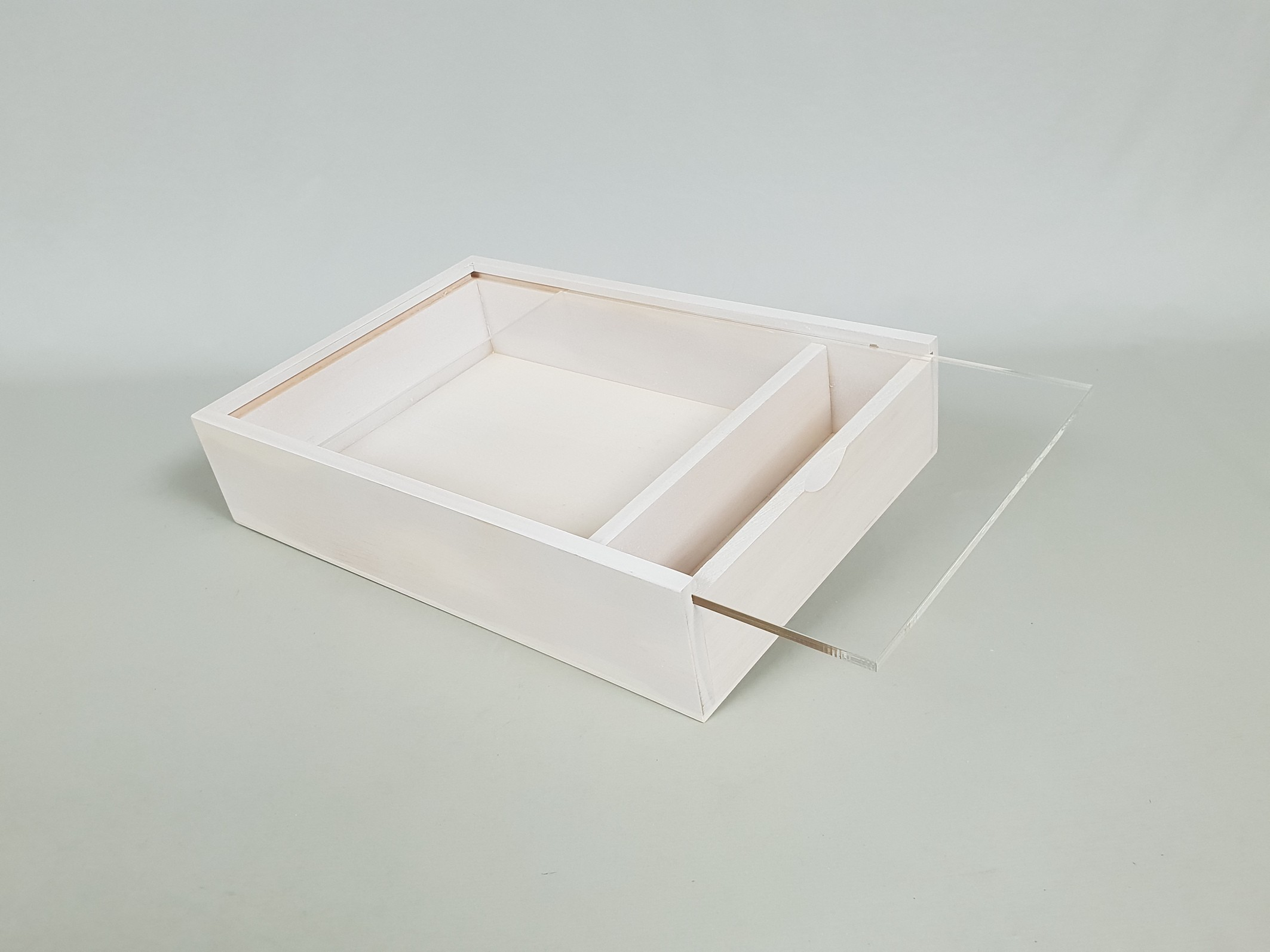 Box for photographers White with Cap Methacrylate Ref.P1454DBM