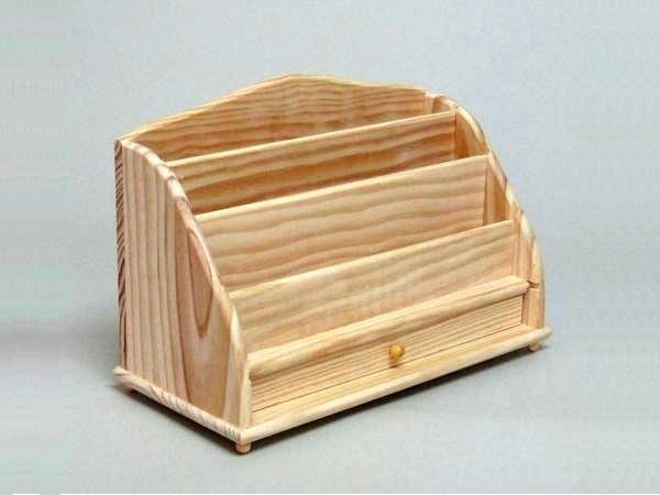 Desktop writing box in pine with drawer Ref.1502