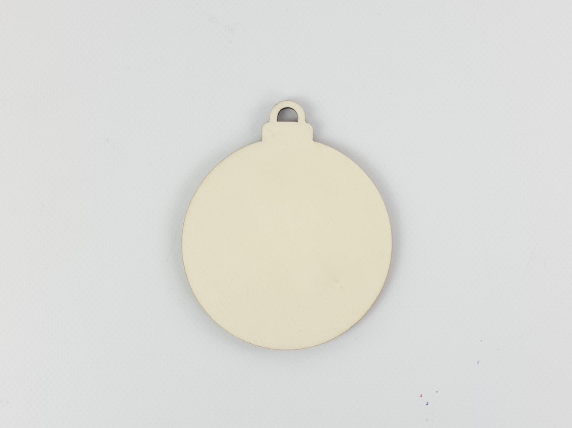 Bola adorno de Navidad de madera Ref.H3733
