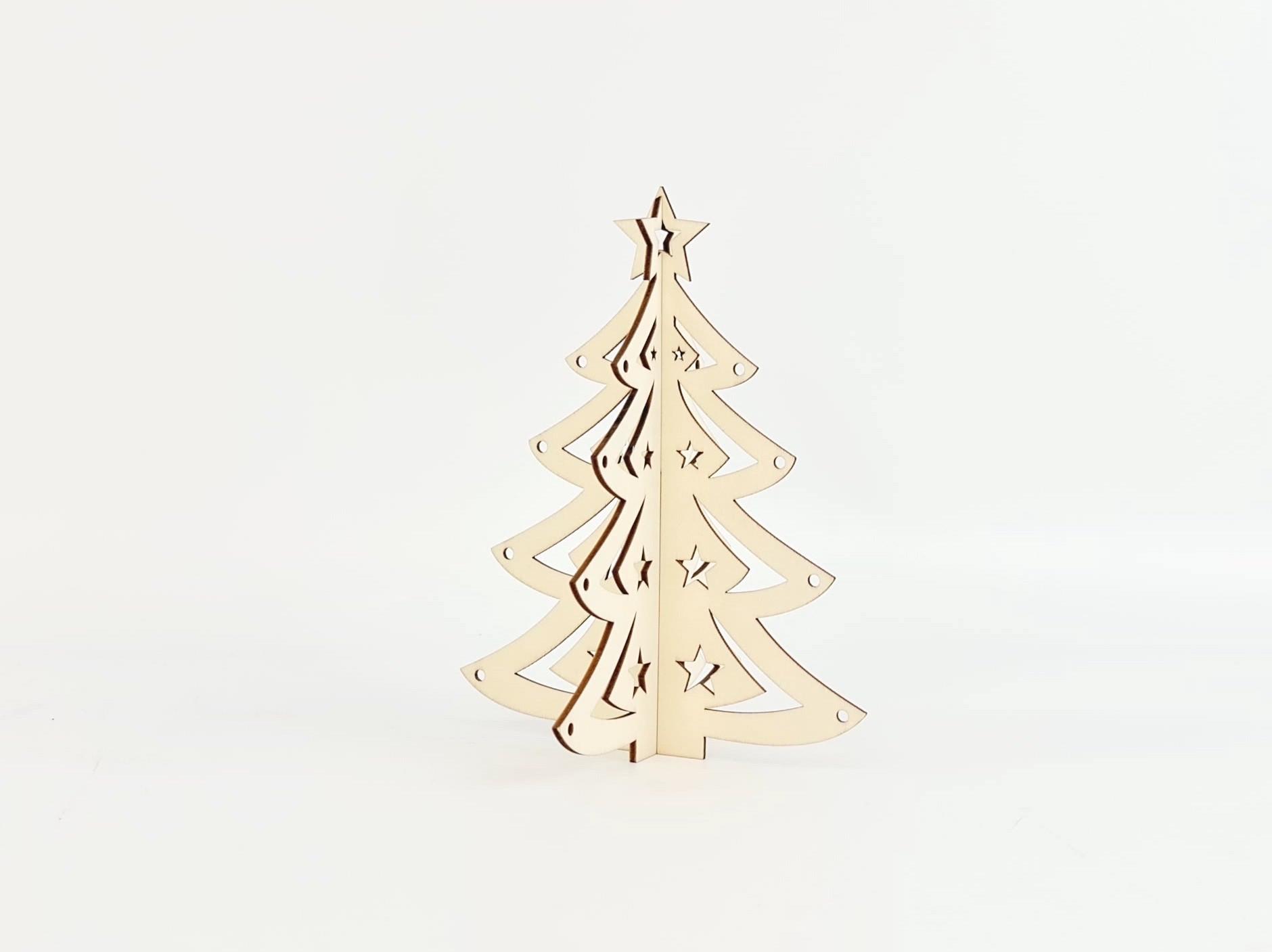 Tabletop wooden Christmas tree Ref.OP647635