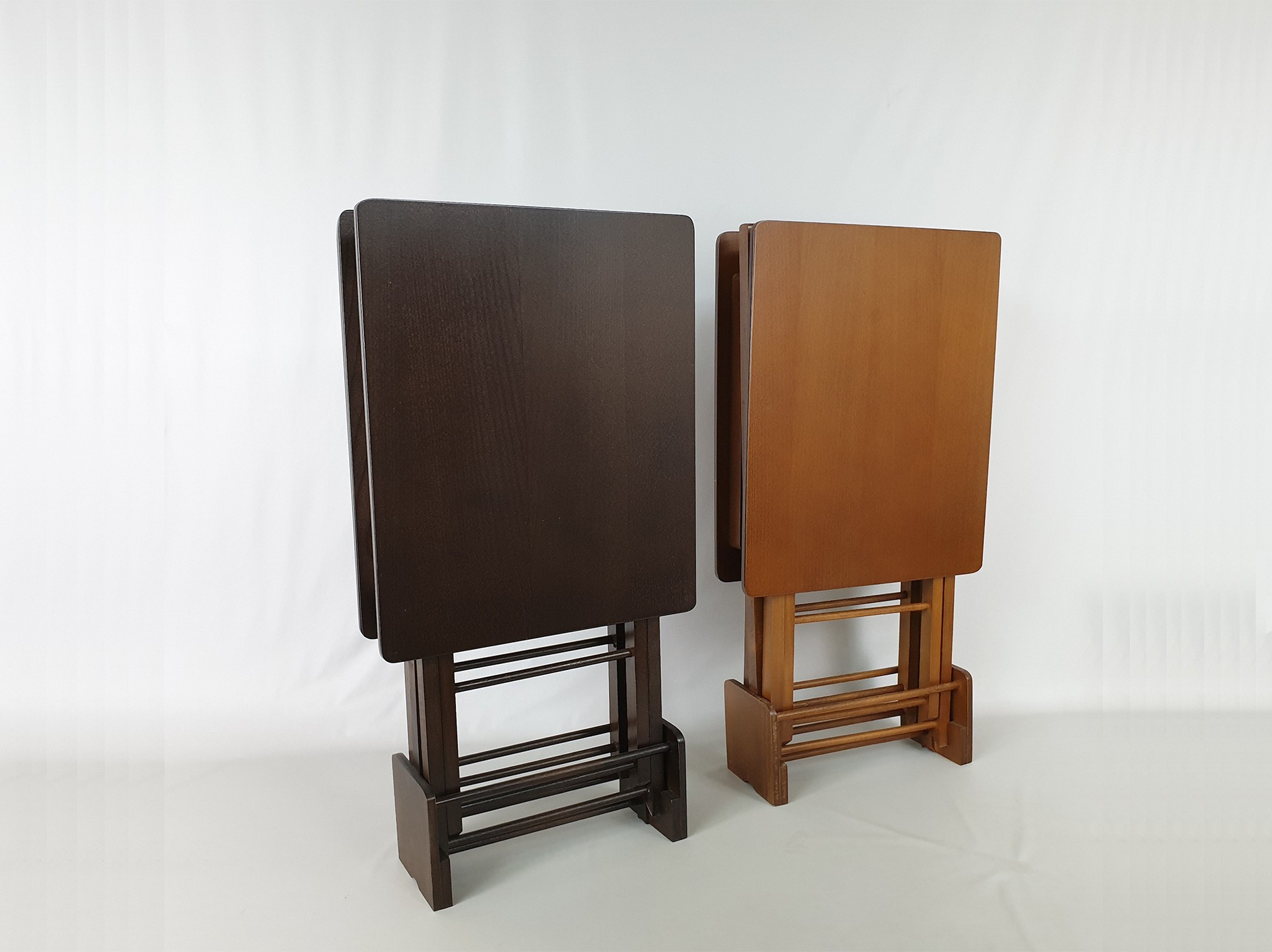 Set of 2 folding tables with support Ref.1391