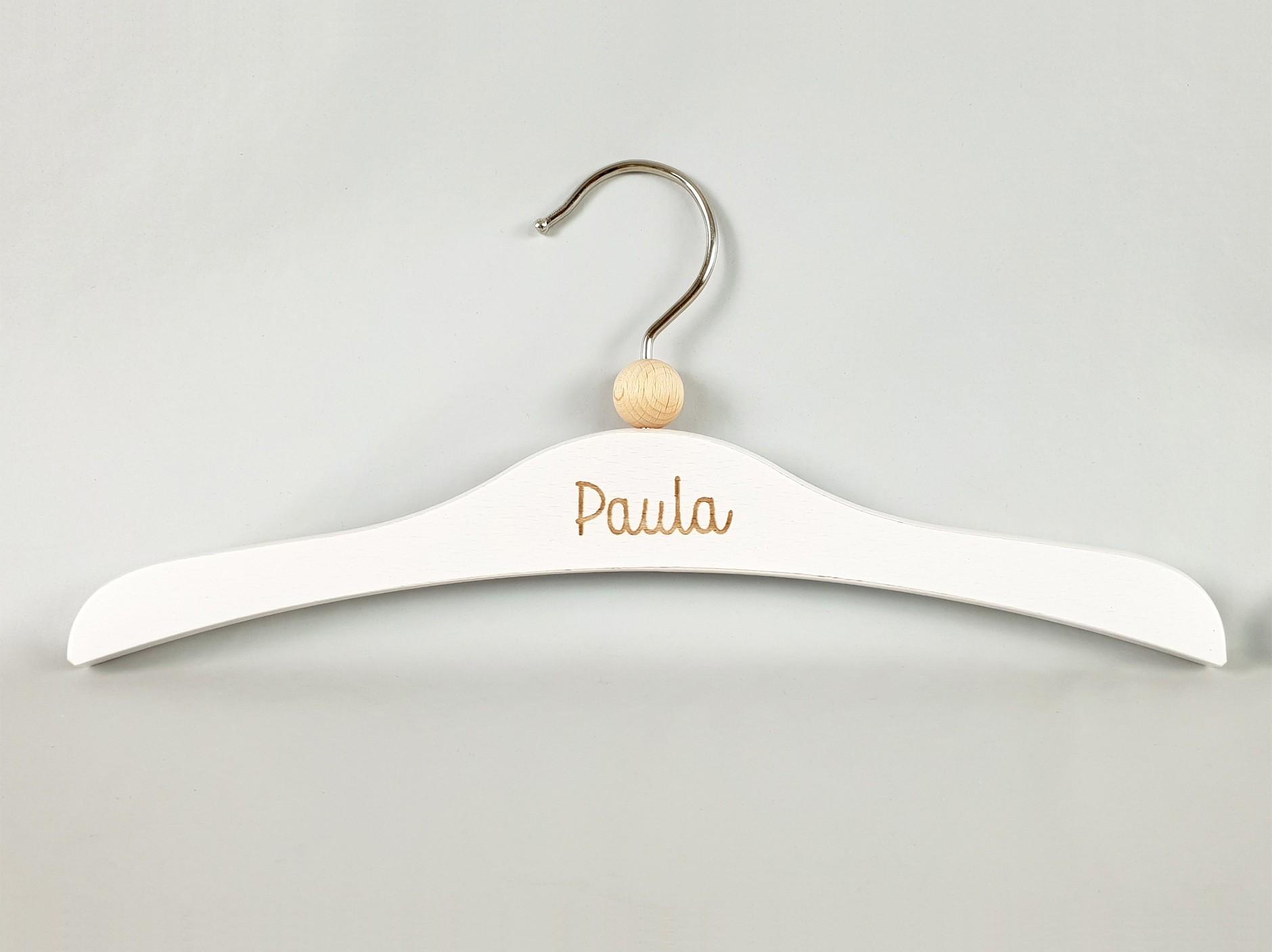 White wood coat hanger children's clothing Ref.VG2801