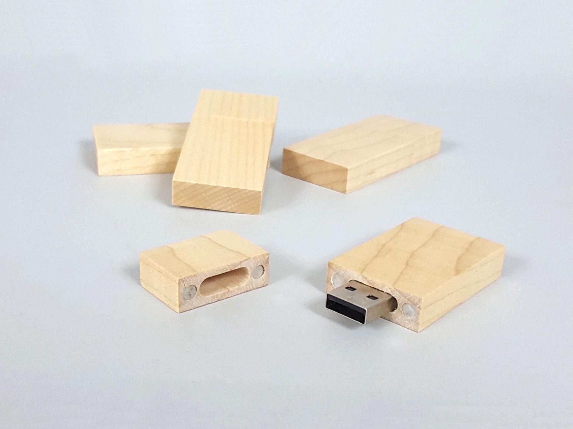 PenDrive de madera con imán Ref.USBCH2