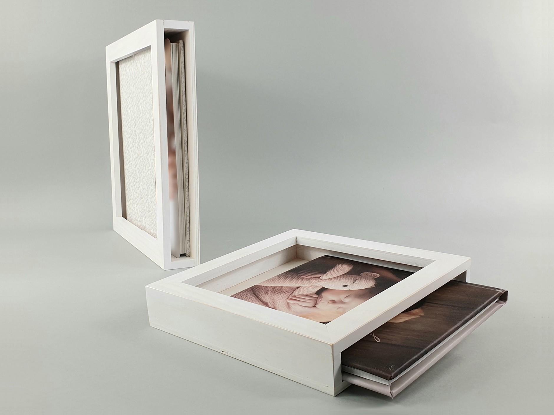 Caja Marco Blanca para Álbum Ref.P1454CAB