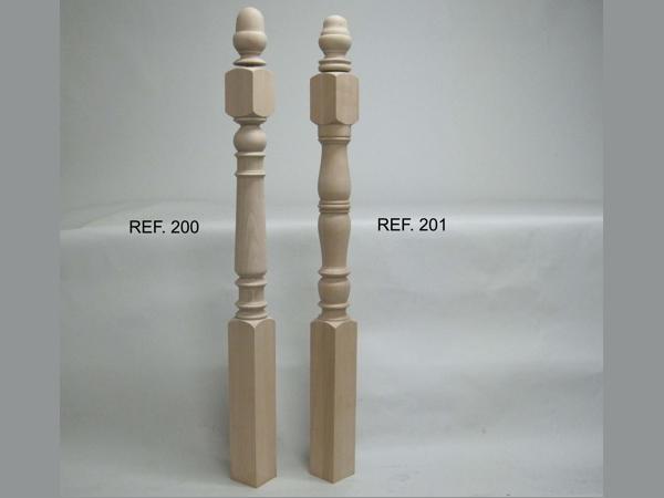 Pillarote of stair 9x9 cm. Ref.200G