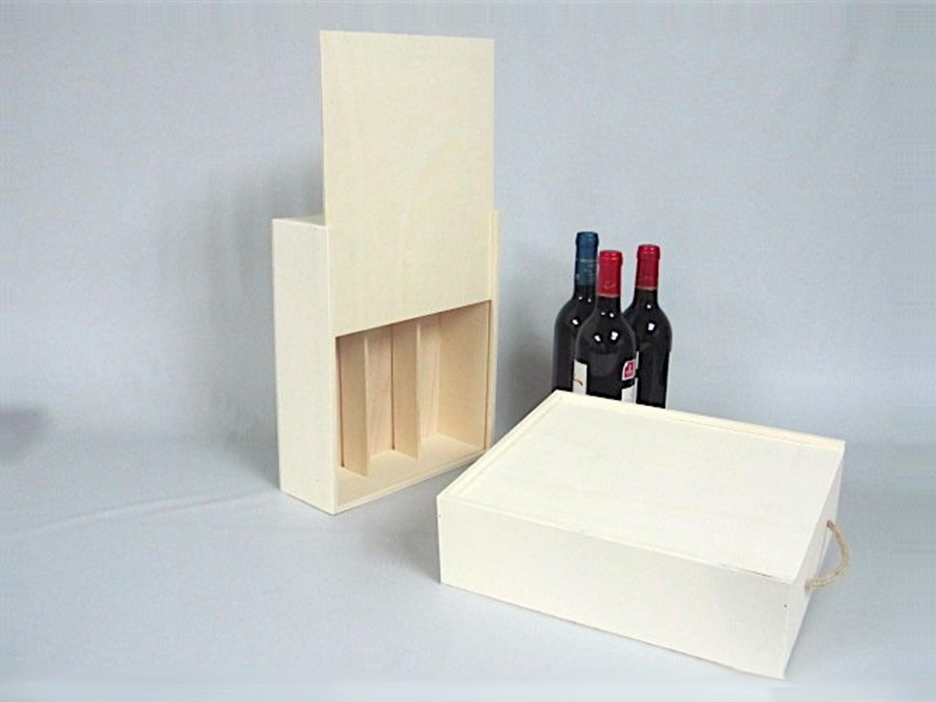 Caja 3 Botellas de vino Tapa Corredera Ref.3botTC