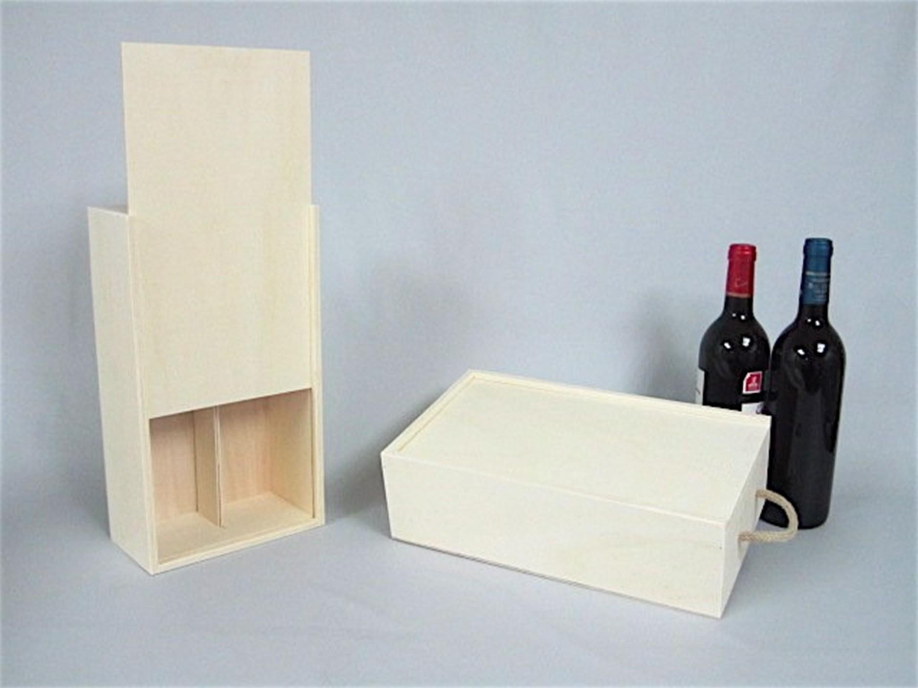 Caja 2 Botellas de vino Tapa Corredera Ref.2botTC