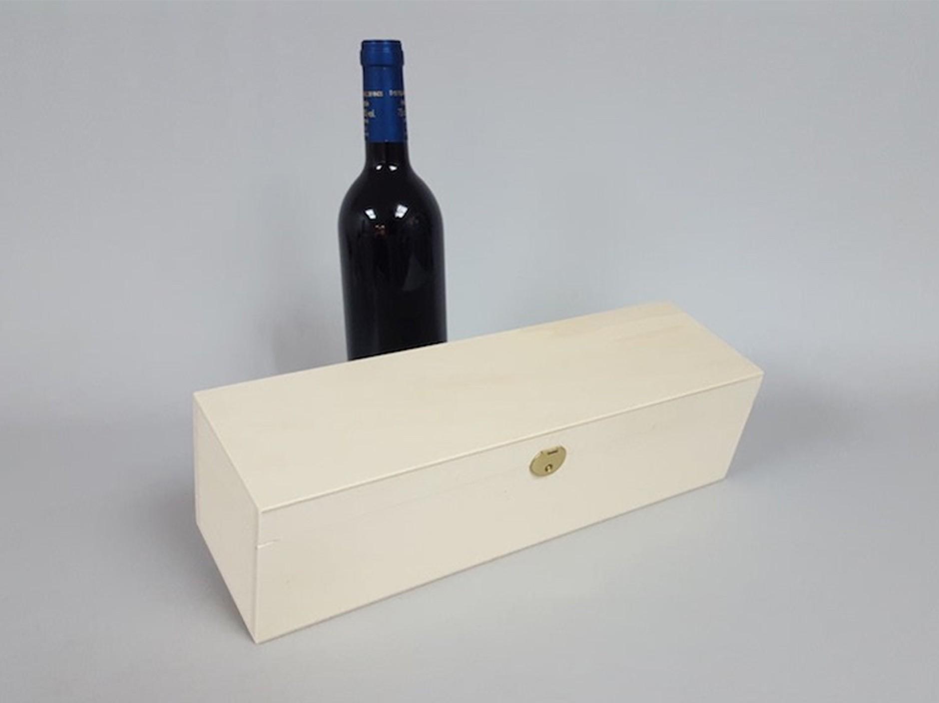 Box 1 Bottle Wine Hinge and Brooch Ref.1botBB