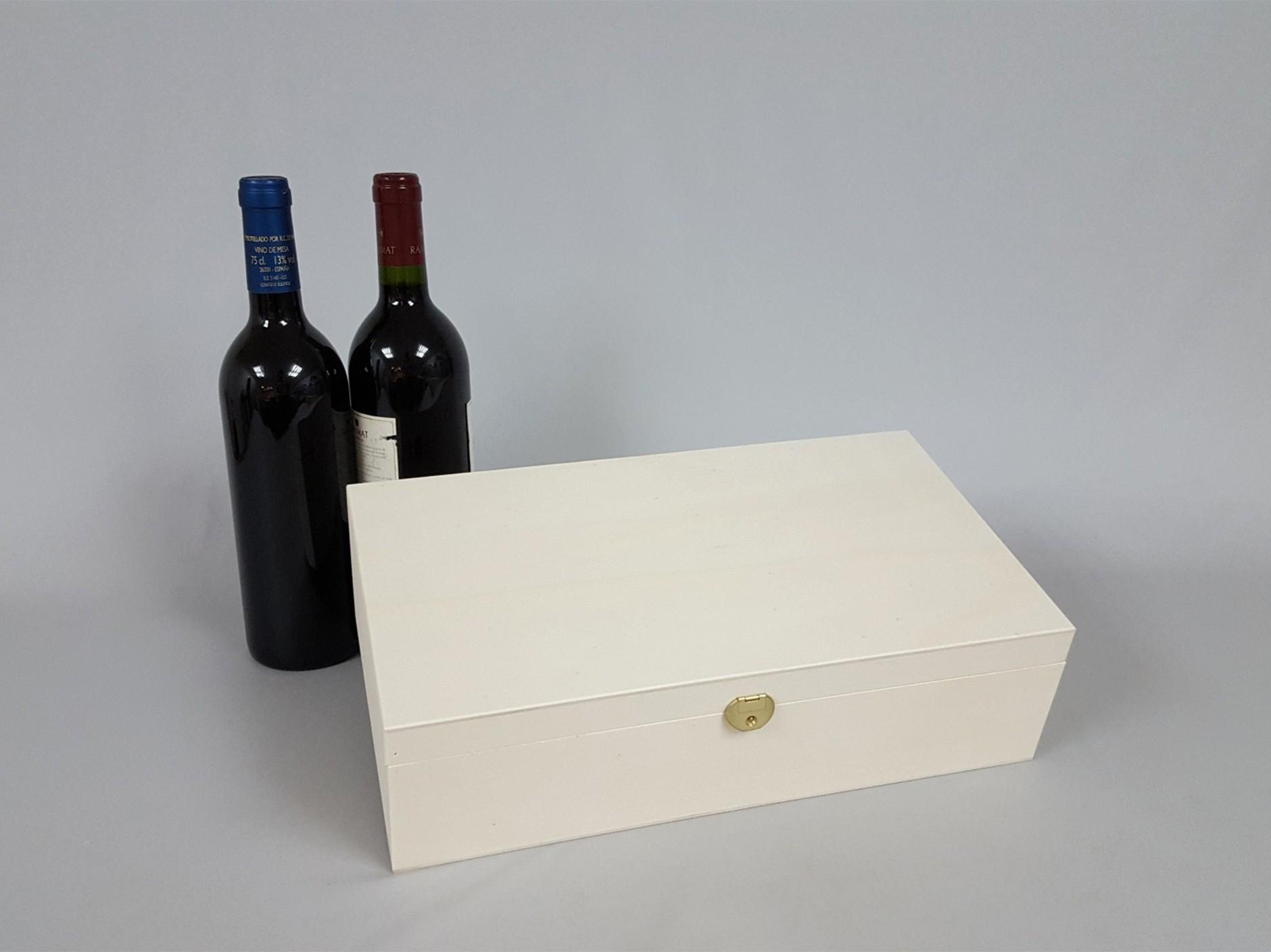 Box 2 Wine Bottles Hinge and Brooch Ref.2botBB
