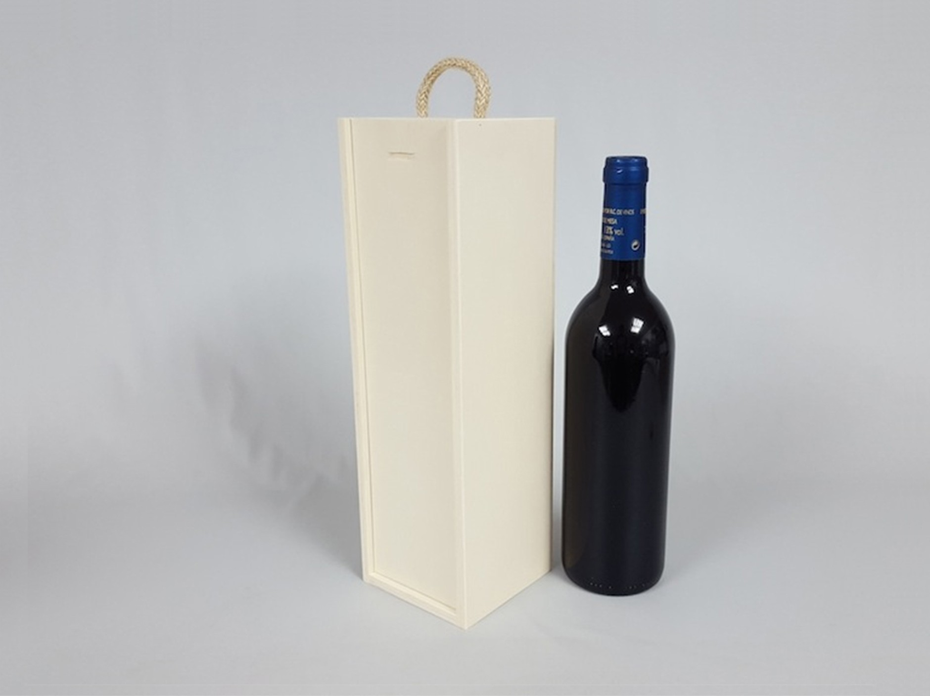 Caja 1 Botella de vino Tapa Corredera Ref.1botTC