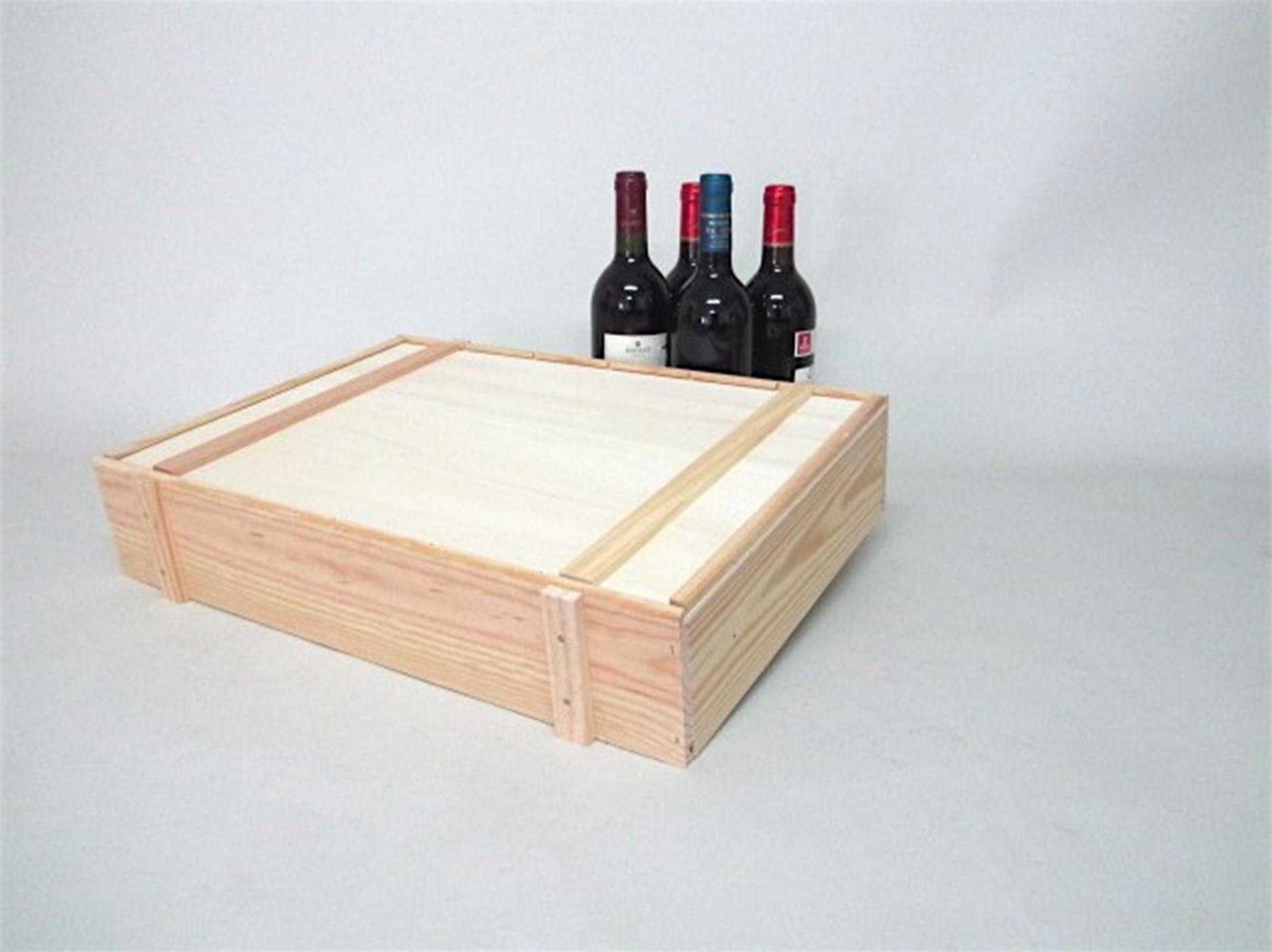 Pine box 6 Wine bottles Type packaging Ref.6botTE