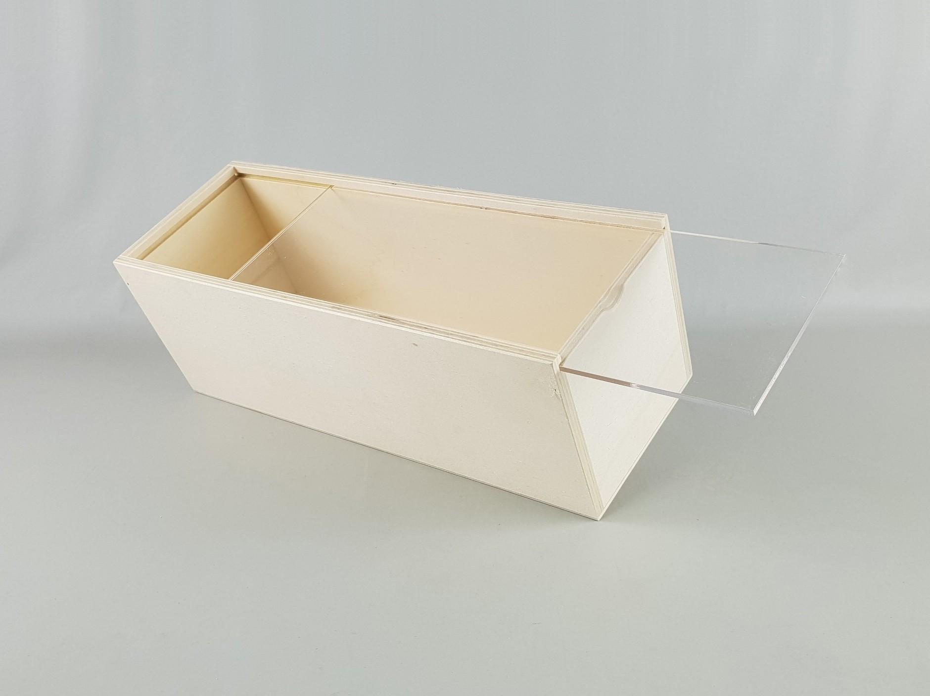 Caja de 39x14x13 cm. c/Tapa Metacrilato Ref.PC6AM