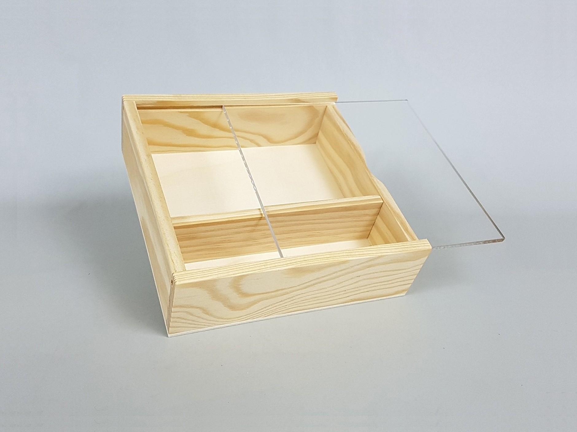 Caja fotos 10x15 c/Tapa Metacrilato Ref.P00CF13M