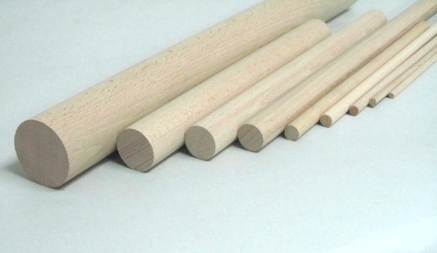 Palo redondo de madera